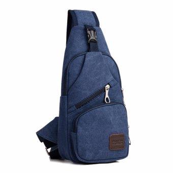 Harga Terbaru Tas selempang slempang pria kanvas canvas chestbag slingbag sling bag - Biru