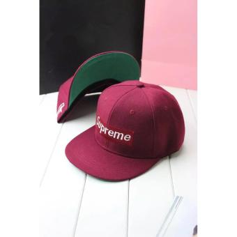 Harga Baseball hip hop hat bboy street hats(Red wine) - intl