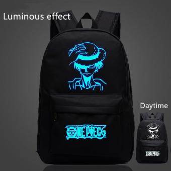 Harga Black Anime One Piece Bags for Teenagers Luffy School Bags Children Luminous Backpack Men Women Shoulder Bags Gifts - intl
