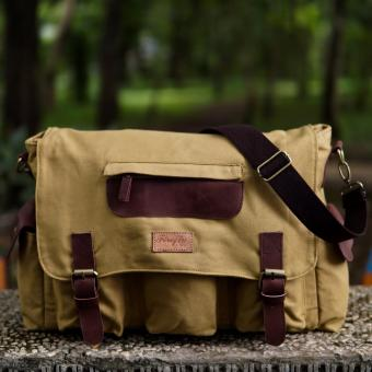 Harga Firefly Haven Cream Canvas Leather Messenger Bag