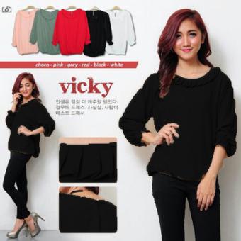 Ayako Fashion Blouse Vicky - AY (Hitam)