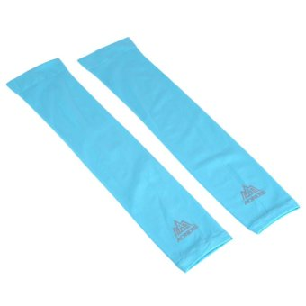 1 Pair Arm Cooling Sleeves Cover UV-protection Unisex Cycling Basketball Sport Cover (Blue) - intl