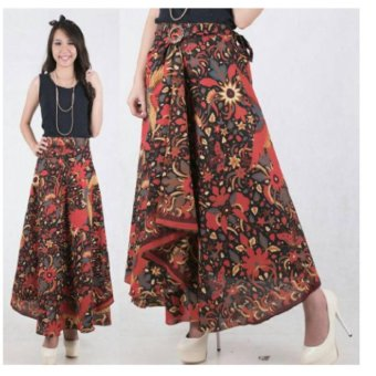 168 Collection Rok Lilit Zee Zee Batik Long Skirt-Multicolor