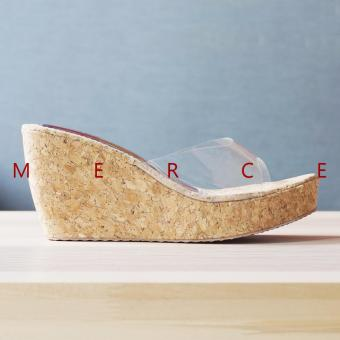 Harga Merce - Wedges Jessie Trasnparant (Neutral)