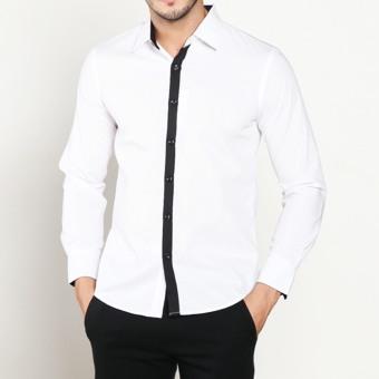 Kemeja Batik Slimfit Pria BWS011 Kombinasi Muslim Koko Jeans Source VM Kemeja Casual .