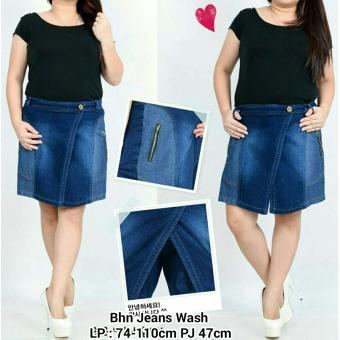 SB Collection Celana Hot Pant Stevany Jumbo Jeans-Biru Tua .