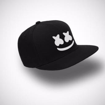 Harga Playclotink Snapback Marshmello Full Black