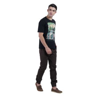 Carvil Combi Men's T-shirt - Hitam .