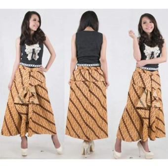 SB Collection Rok Maxi Akila Long Skirt Batik-Coklat