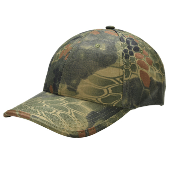 Harga Men Camouflage Military Adjustable Hat Camo Hunting Fishing Army Baseball Cap Green - Intl