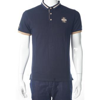 1606 Biru Kaos Pendek Polo Pria / T-Shirt / Polo-T Hongkong Import