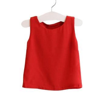 ... YBC Set gadis baju kaus tanpa lengan bintik rok gaun busana International 2