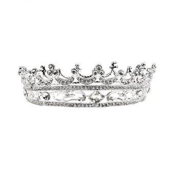 Jetting Buy Rhinestone Crown Wedding Band Ring Set Daftar Update Source MagiDeal Round .