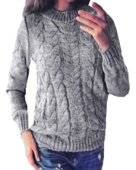 Mantel Wol Tebal Hangat Jaket Berleher V Untuk Wanita Biru Source · ZANZEA Wanita Musim Dingin Panjang Lengan Baju Rajutan Baju Hangat Yg Ditimbulkan