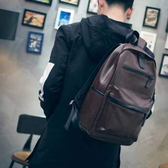 Simple Male Bag Backpack Male Korean Fashion Fashion Student Backpack Women Men's Rucksack .