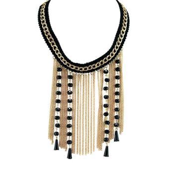 Ofashion Aksesoris Kalung XX-CA-1702K040 Modern Necklace Accessories Panjang 45 Cm - Hitam