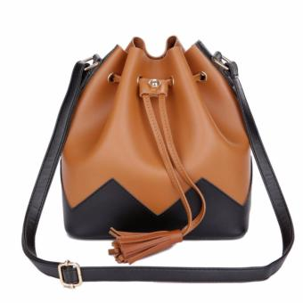 Harga KGS Tas Casual Wanita Two Tones Bucket Shoulder Bag Coklat