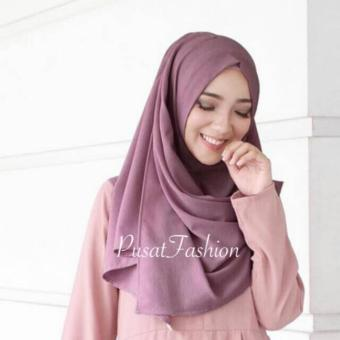 Harga PusatFashion Pasmina Basic - Deep Purple