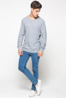 ... 2ndRED 133233 Jeans Slim Fit Wisker Mid Blue - 4 ...