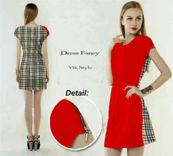 Harga Ayako Fashion Dress Fancy - YTK - Merah