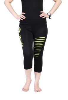 Harga Ronaco Zumba Pants T001 - Black Green