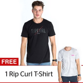 Harga Rip Curl Bundling - Slash Type Tee Black + Spray Tee White