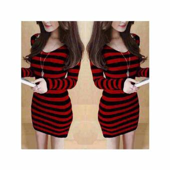 369 Jolie Sexy Mini Dress Merah .