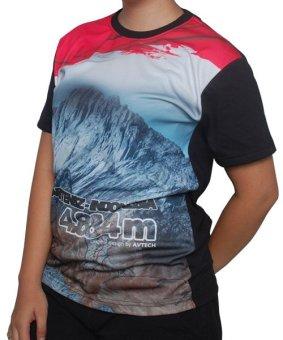 Topi Avtech 0903 Kupluk Ponco Strip - Hitam - Abu. Avtech T-Shirt Seven