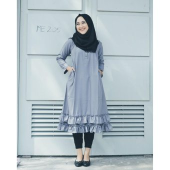 Harga Rabia Tunik Abu By Oriana Boutique