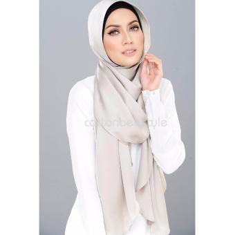 Harga Auzara Hijab - Pashmina - Satin Premium - Light Grey
