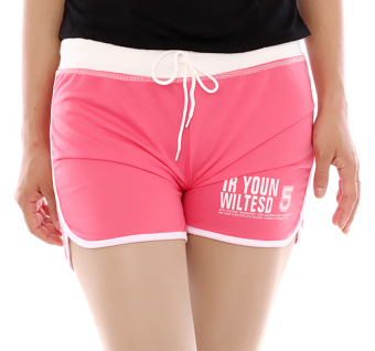 Hang-Qiao Women Sports Beach Shorts Casual Hot Pants (Pink)