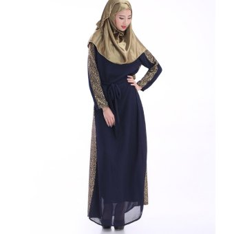 Harga Women Kaftan Abaya Muslim Dress Islamich Clothing Plus Size (Black) - intl