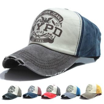 Bintang lima antik topi sopir truk yang dapat kepar kapas topi Baseball ( biru)-