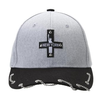 Unisex Hot Snapback Adjustable Baseball Cap Hip Hop Hat Cool Cap (Gray) - intl - 3