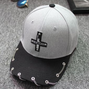 Unisex Hot Snapback Adjustable Baseball Cap Hip Hop Hat Cool Cap (Gray) - intl - 2