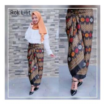 SB Collection Rok Maxi Lilit Pheena Batik Long Skirt-Multicolor