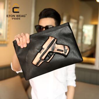 Bag Korean Men Clutch Leather Men's Handbag Women Single Shoulder Bag Crossbody Bag Fashion Bag -