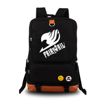 Harga FAIRY TAIL Laptop Bags & Cases Backpack Canvas Shoulder Bags (Black)