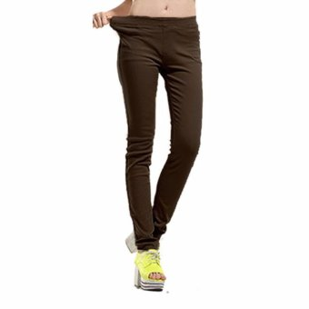 Harga Plus Size Casual Pants Brown