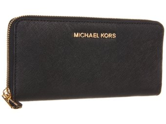 Michael Kors Jet Set ZA Wallet - Black