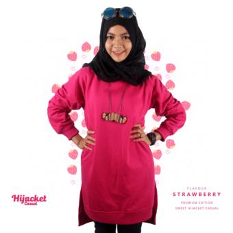 Harga Sweater Jaket Hijaket ( Hijaber Jaket) Premium Fleece HJ Casual - Strawberry