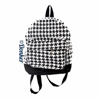 Harga Donker Canvas Mini Back Pack Houndstooth