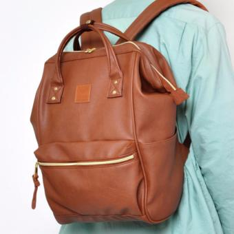 Harga Tas Anello Backpack - Leather - Brown