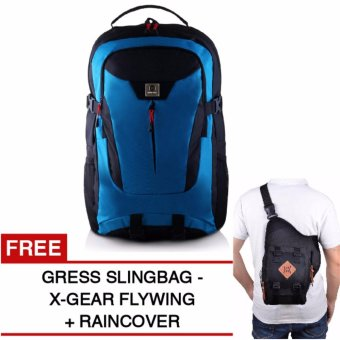 Harga Gear Bag - The Flash Edition Backpack - Blue + Raincover + GRATIS X-Gear Army Flywing
