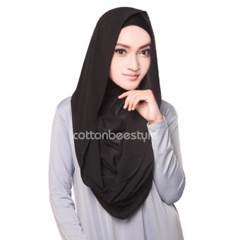 Harga Cotton Bee Hoodie Channel Instan - Including Inner - Hitam