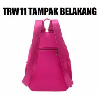 Gambar Produk Martin Versa Tas TRW11 Backpack Ransel Wanita Kanvas Nylon Black Lengkap .