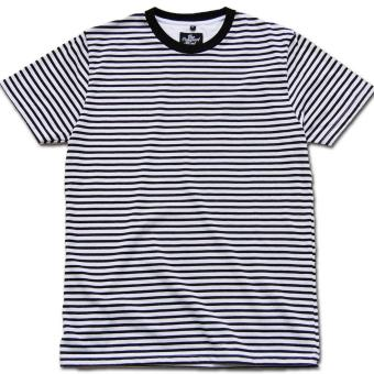 T-shirt Strip Garis monochrome
