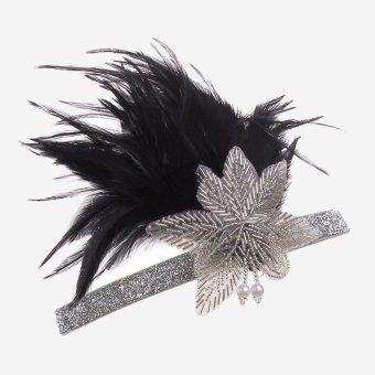 Harga Women Retro Shiny Native America Headband Headpiece Headdress with Feather and Bead Details for Party Prom - intl