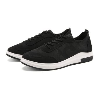 Harga 9DOO Summer Sports Shoes Fashion Casual Men's Shoes(Black) - intl