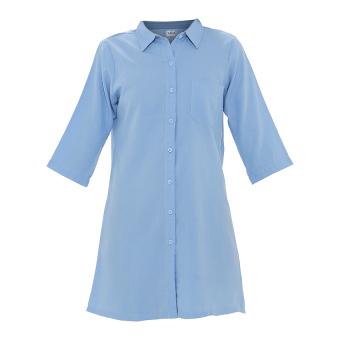 Zada Lazy Boyfriend Shirt - Biru - 4 .